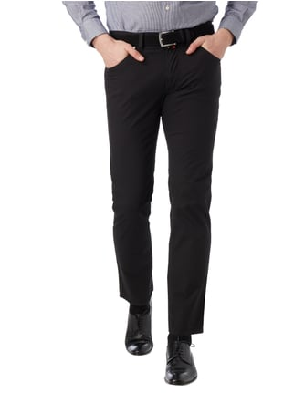 Pierre Cardin Slim Fit 5-Pocket-Hose mit Stretch-Anteil Schwarz - 1