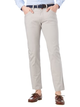 Pierre Cardin Slim Fit 5-Pocket-Hose mit Stretch-Anteil Silber - 1