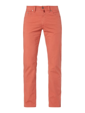Slim Fit 5-Pocket-Hose mit Stretch-Anteil Orange - 1