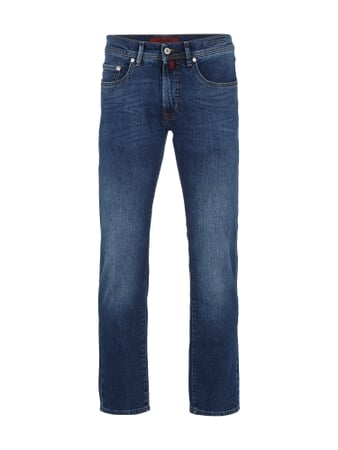 Stone Washed 5-Pocket-Jeans im Slim Fit Blau / Türkis - 1