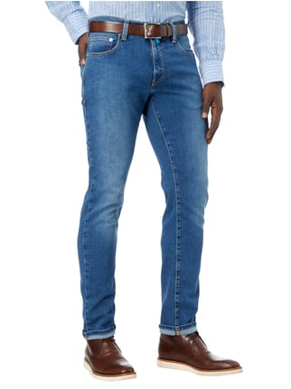 Pierre Cardin Stone Washed Tapered Fit 5-Pocket-Jeans Blau - 1