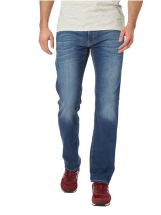 Pierre Cardin Stone Washed Tapered Fit Jeans Bleu - 1