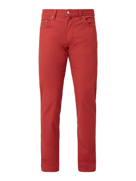 Pierre Cardin Straight Fit Hose mit Webmuster Rot - 1