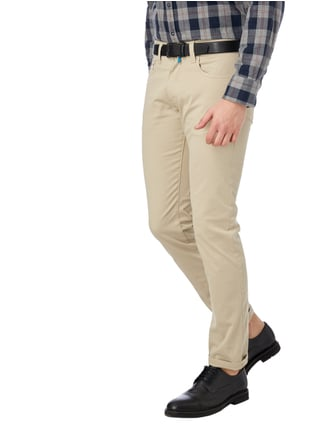 Pierre Cardin Tapered Fit 5-Pocket-Hose mit Stretch-Anteil Beige - 1