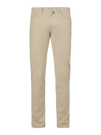 Tapered Fit 5-Pocket-Hose mit Stretch-Anteil Weiß - 1