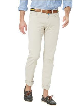 Pierre Cardin Tapered Fit 5-Pocket-Hose mit Stretch-Anteil Ecru - 1