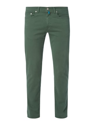 Tapered Fit 5-Pocket-Hose mit Stretch-Anteil Grün - 1