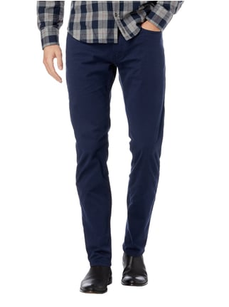 Pierre Cardin Tapered Fit 5-Pocket-Hose mit Stretch-Anteil Marineblau - 1