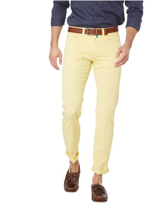 Pierre Cardin Tapered Fit 5-Pocket-Hose mit Stretch-Anteil Pastellgelb - 1