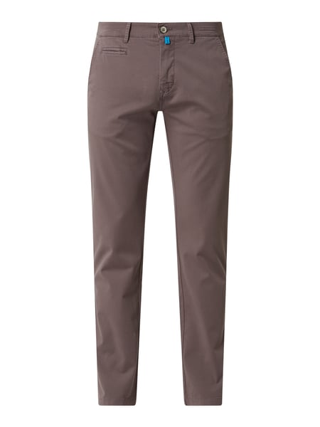 Pierre Cardin Tapered Fit Chino mit Stretch-Anteil Modell 'Lyon' - 'Futureflex' Grau - 1