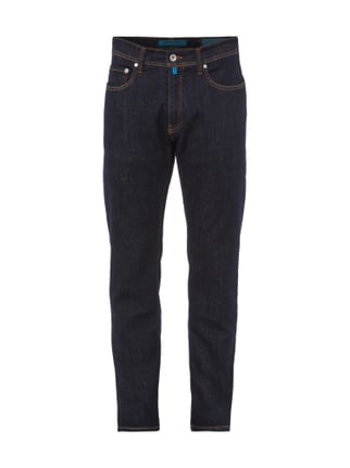 Tapered Fit Jeans im One Washed Look Blau / Türkis - 1