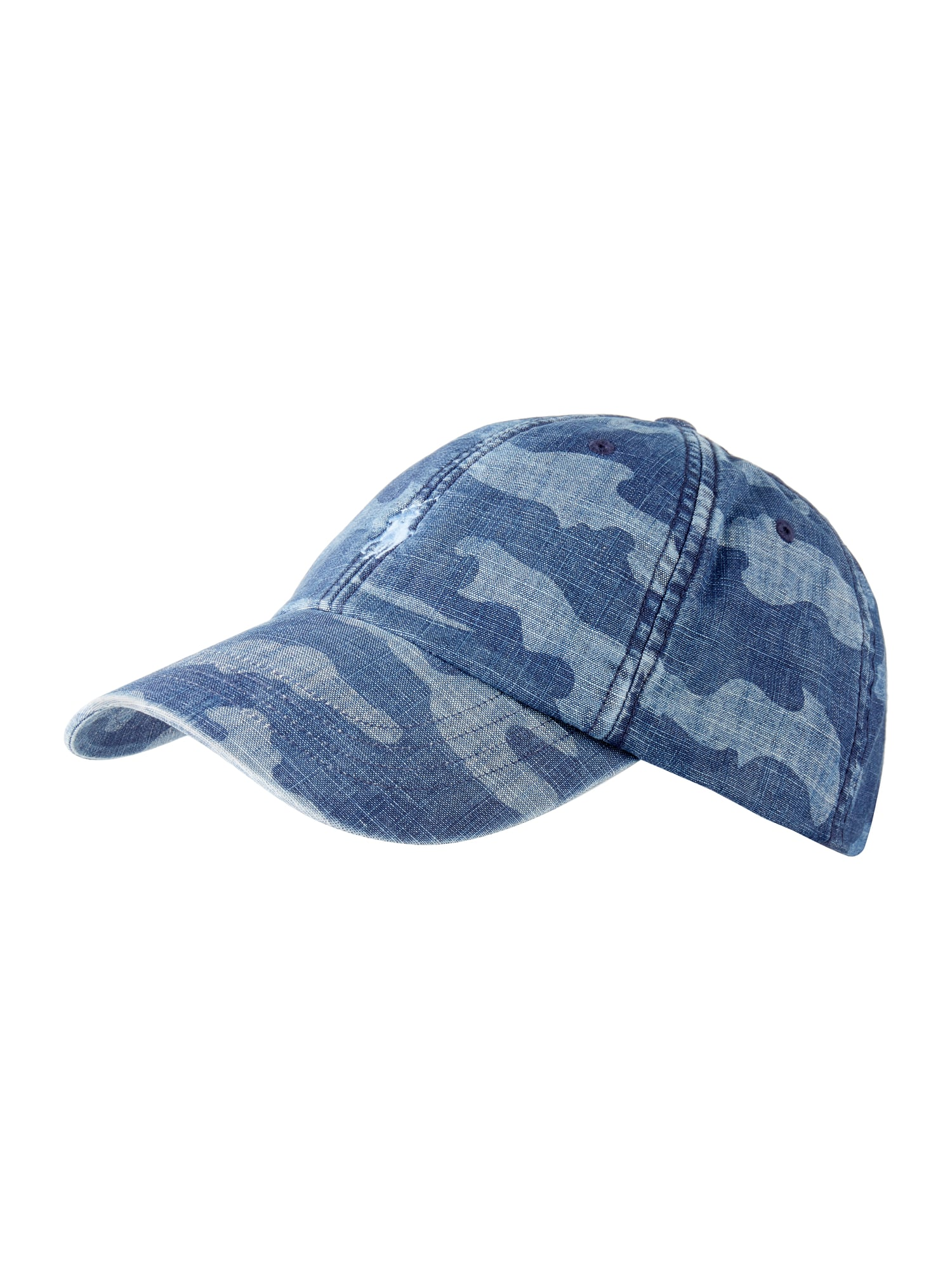 polo ralph lauren basecap mit camouflage muster in blau. Black Bedroom Furniture Sets. Home Design Ideas