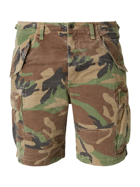 Polo Ralph Lauren Classic Fit Cargoshorts mit Camouflage-Muster Olivgrün