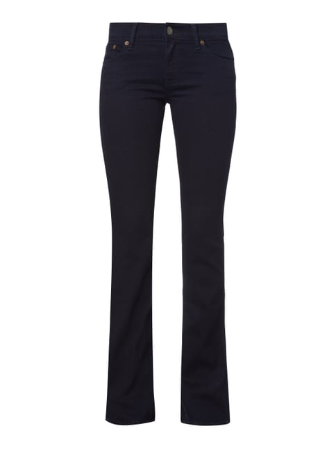 Coloured Skinny Boot Cut Jeans Blau / Türkis - 1
