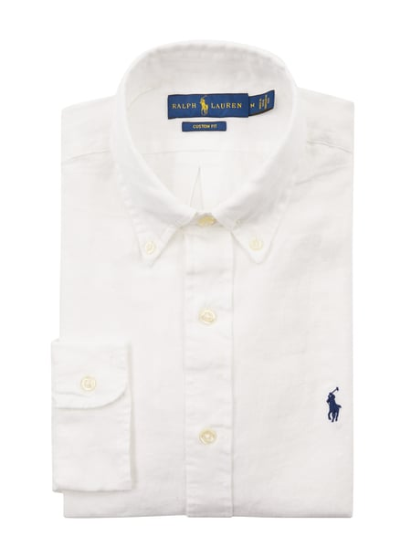 Polo Ralph Lauren Regular Fit Leinenhemd Weiß - 1