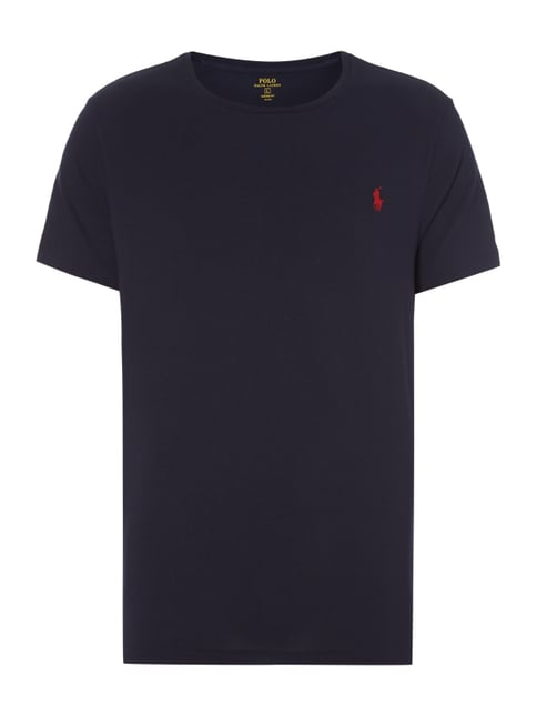 Custom Fit T-Shirt mit Logo-Stickerei Blau / Türkis - 1