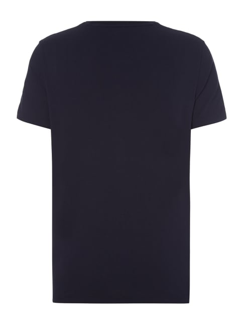 Polo Ralph Lauren Custom Fit T-Shirt mit Logo-Stickerei Marineblau - 1