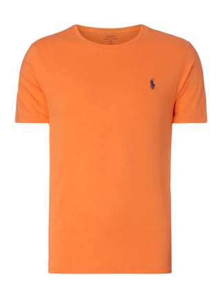 Custom Fit T-Shirt mit Logo-Stickerei Orange - 1