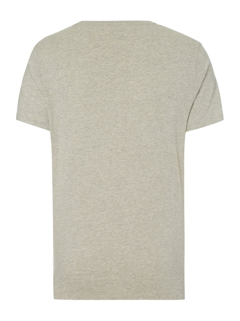 Polo Ralph Lauren Custom Fit T-Shirt mit Logo-Stickerei Silber - 1