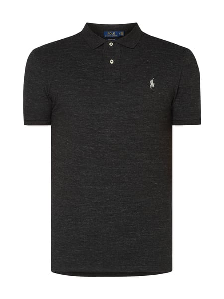 Polo Ralph Lauren Custom Slim Fit Poloshirt im Washed Out Look Grau - 1