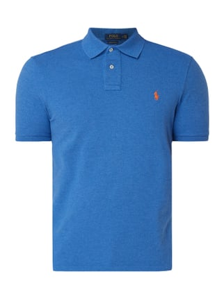 a8f6ee31764865 Polo Ralph Lauren Custom Slim Fit Poloshirt im Washed Out Look Blau    Türkis - 1 ...