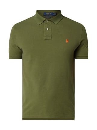 Polo Ralph Lauren Custom Slim Fit Poloshirt im Washed Out Look Grün - 1 ... 923db59f29