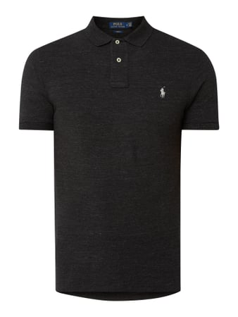 Polo Ralph Lauren Custom Slim Fit Poloshirt mit Logo-Stickerei Grau - 1