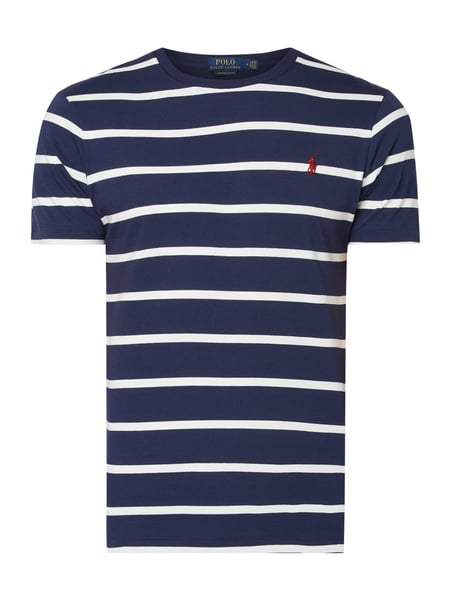 Polo Ralph Lauren Custom Slim Fit T-Shirt aus Baumwolle Blau - 1