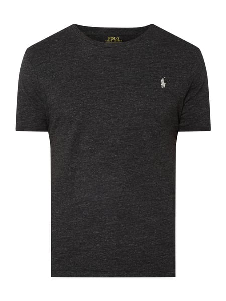 Polo Ralph Lauren Custom Slim Fit T-Shirt mit Logo-Stickerei Grau - 1