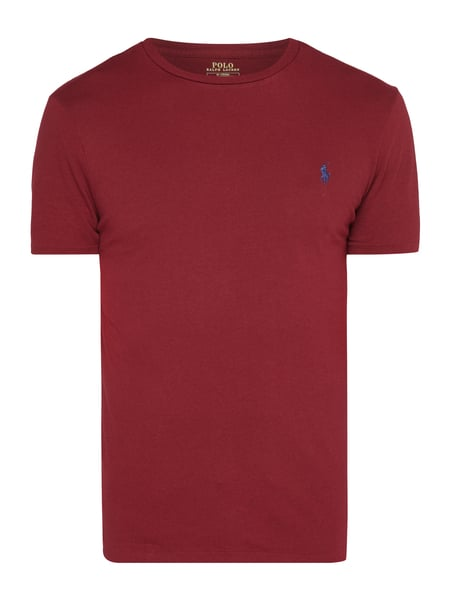 Polo Ralph Lauren Custom Slim Fit T-Shirt mit Logo-Stickerei Rot - 1