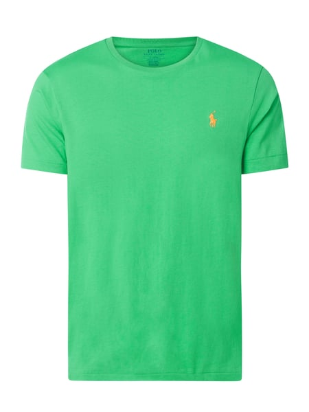 Polo Ralph Lauren Custom Slim Fit T-Shirt mit Logo-Stickerei Grün - 1