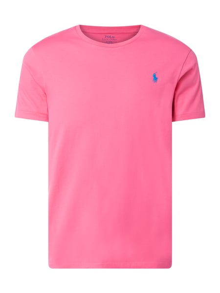 Polo Ralph Lauren Custom Slim Fit T-Shirt mit Logo-Stickerei Rosa - 1