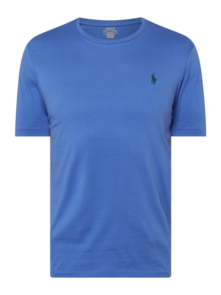 Polo Ralph Lauren Custom Slim Fit T-Shirt mit Logo-Stickerei Blau - 1