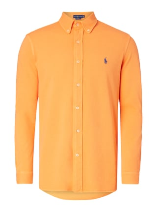 Freizeithemd aus Piqué - Slim Fit Orange - 1