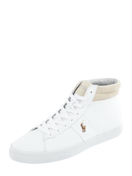 Polo Ralph Lauren High Top Sneaker aus Textil mit Logo-Stickerei Weiß - 1