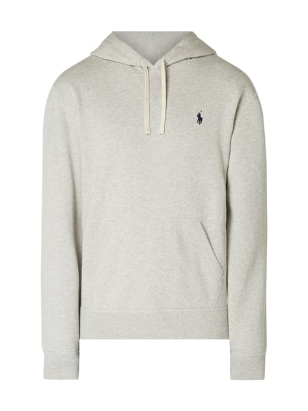 the best attitude e6531 a6cd7 Polo Ralph Lauren – Hoodie mit Logo-Stickerei – Hellgrau meliert