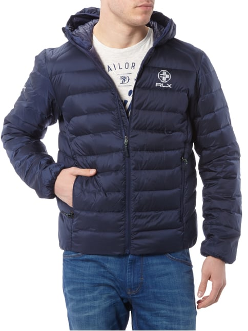 Polo Ralph Lauren Light-Daunen Steppjacke mit Kapuze Marineblau - 1