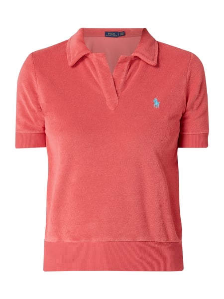 polo ralph lauren poloshirt aus frottee in rot online. Black Bedroom Furniture Sets. Home Design Ideas