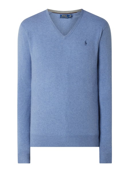Polo Ralph Lauren Pullover aus Wolle Modell 'Hunter' Blau - 1