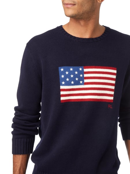 quality design 96a74 e773d Pullover mit eingestrickter Flagge