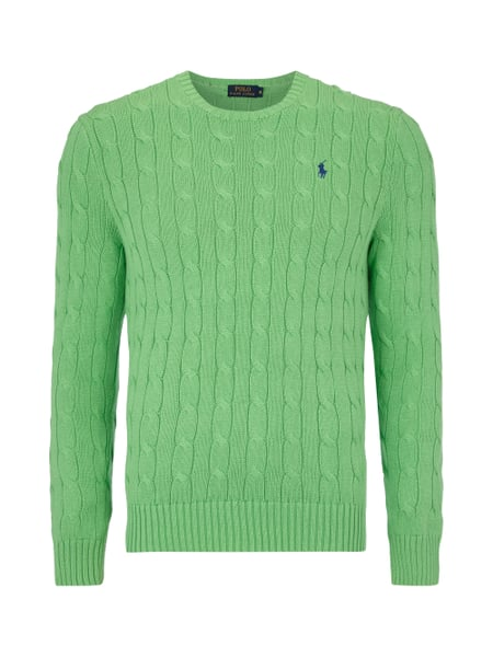 low priced 32f80 1e0ac POLO-RALPH-LAUREN Pullover mit Zopfmuster in Grün online ...