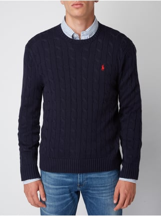 uk availability 0bd61 5d8ef Polo Ralph Lauren Pullover mit Zopfmuster