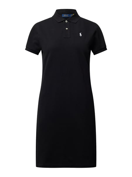 Polo Ralph Lauren Regular Fit Kleid mit Polokragen Schwarz - 1