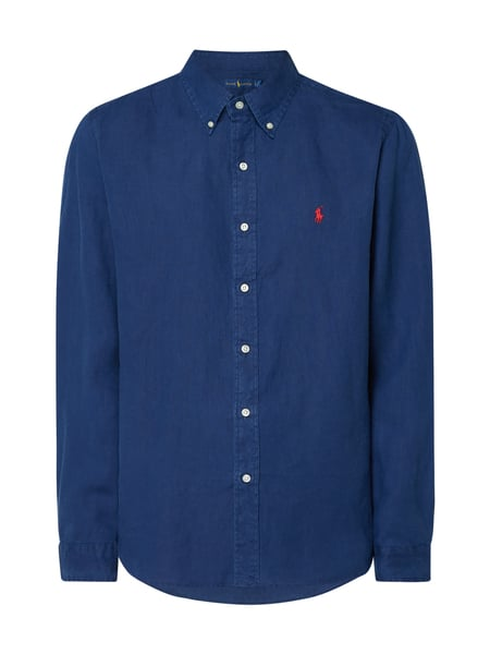 Polo Ralph Lauren Regular Fit Leinenhemd Blau - 1