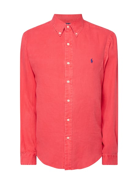 Polo Ralph Lauren Regular Fit Leinenhemd Rot - 1
