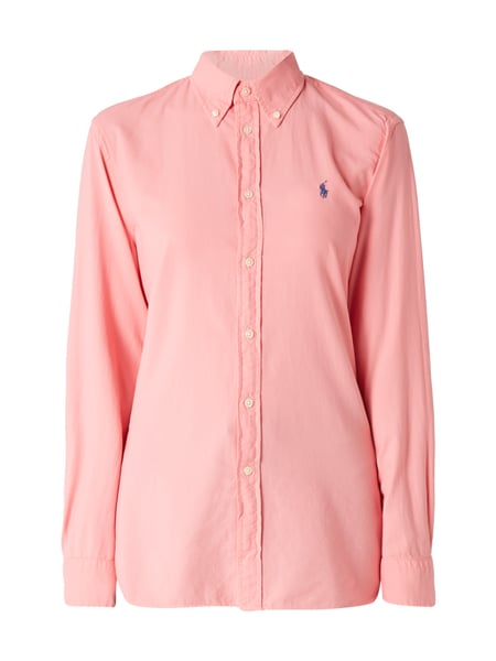 Polo Ralph Lauren Relaxed Fit Bluse mit Logo-Stickerei Pink