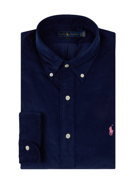 Polo Ralph Lauren Slim Fit Cordhemd mit Button-Down-Kragen Blau / Türkis - 1