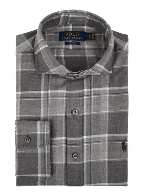 official photos f6b7e bd3f2 Slim Fit Flanellhemd aus Baumwolle