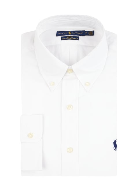 f739d90c7faa54 Polo Ralph Lauren Slim Fit Hemd mit Button Down Kragen Weiß - 1 ...