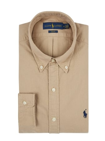 Polo Ralph Lauren Slim Fit Freizeithemd aus Oxford Beige - 1